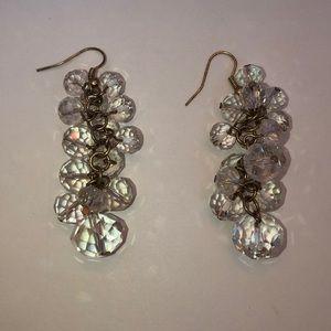 Clear earrings